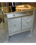 Vintage Mirrored Large Bedside Cabinet